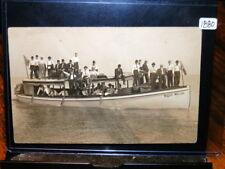 "#1880,Superb Real Photo,Boat ""Major Wilcox""Lake Eire Sandusky,Ohio,@1905"