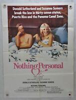 1980 Nothing Personal Original 1SH Movie Poster 27 x 41 Donald Sutherland, Suzan
