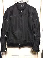 NWOT Victory Motorcycle Women's Padded Black Moto Jacket Size XL Mens Medium