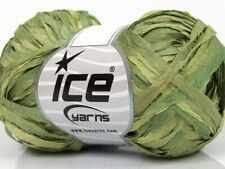 "Cottage Greens Ribbon #62202 Sale Ice Yarn Nylon 50gr 125yd just under 1/4"" wide"