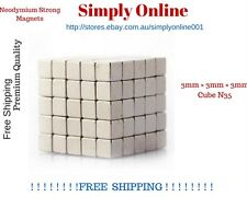 10 PCs 3mm x 3mm x 3mm Cube New Magnetic strong Magnet N35 Neodymium DIY Fridge
