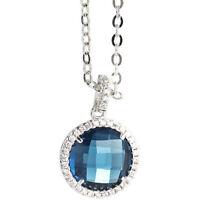 BOCCADAMO Collana donna con zirconi e cristallo blu sfaccettato Sharada