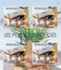 GOLDFISH (Bubble Eye) Freshwater Fish Stamp Sheet #5 of 7 (2012 Burundi)