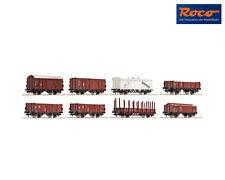 Roco 44002 Güterwagenset der DB (8 Stück) ++ NEU in OVP
