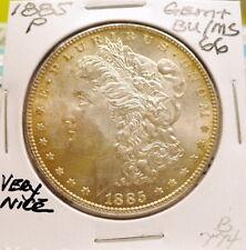 1885-P MORGAN SILVER DOLLAR GEM+ BU/MS, NICE++ ORIGINAL, SHARP STRIKE B774