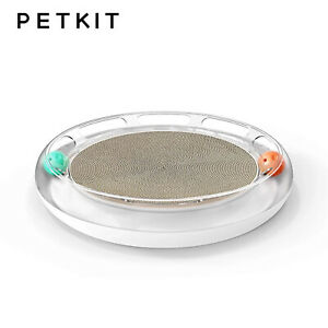 PETKIT FUN CAT 4in1 Playground Scratcher Play Ball Track Meow Planet Toy - WHITE