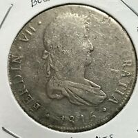 1815 PTS BOLIVIA SILVER 8 REALES SPANISH AMERICA LARGE CROWN COIN