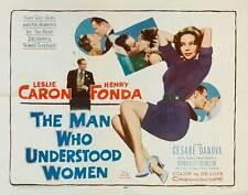 THE MAN WHO UNDERSTOOD WOMEN Movie POSTER 22x28 Half Sheet Leslie Caron Henry