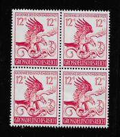 MNH 1944 stamp block  21st anniversary Munich Putsch / Third Reich Adolph Hitler