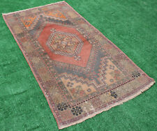 Turkish Rug 46''x85'' Vintage Muted Color Fashion Oushak Rug Carpet 3'8''x7'1''