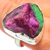 Large Ruby Zoisite 925 Sterling Silver Ring Size 8.5 Ana Co Jewelry R42367F