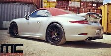 "Ruger Mesh Staggered Black 19"" wheels rims Porsche 911/987/996/997 Turbo Boxster"