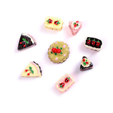 8 Dollhouse Miniature 1:12 Food Bakery Assorted Cake Fruit Chocolate Pie Re-ment
