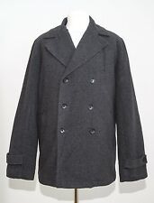 MENS PULSE COAT PADDED JACKET WOOL BLEND DOUBLEBREASTED GREY SIZE XL XLARGE EXC