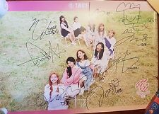 Twice all members signed TWICEcoaster:LANE1 poster (apricot ver) / photo card