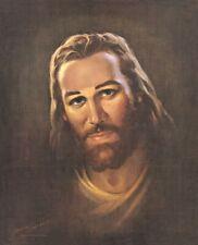 Warner Sallman PORTRAIT OF CHRIST 20x16 Canvas Art Jesus Vintage Picture