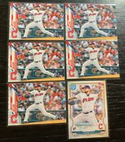 Logan Allen RC Lot(6) 2020 Topps Cleveland Indians