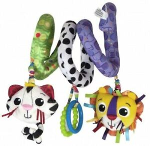 Lamaze Activity Spiral Babies Textured Soft Toys Rattle Hanging Cot Buggy
