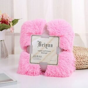Shaggy Fur Blanket Ultra Plush Decorative Blanket Blankets For Bed Sofa Blankets