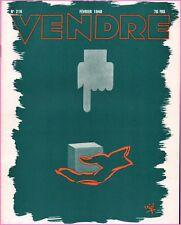 ▬►MARKETING PUBLICITÉ  -- VENDRE N° 216 (FEVRIER 1948) --  COVER FRANÇOIS VIÉ