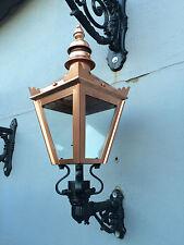 Small Victorian style copper colour finish wall lantern cast iron bracket light
