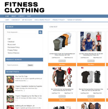 Fitness Clothing Website Easy Home Business 1 Years Hosting New Domain