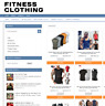 FITNESS CLOTHING WEBSITE - EASY HOME BUSINESS + 1 YEARS HOSTING NEW DOMAIN