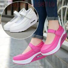 Womens Wedges Platform Casual Buckle Shoes Ankle Starp Pumps Nurse Sneakers