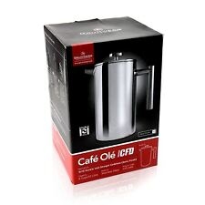 Grunwerg Cafe Ole 12 Cup Double Walled Straight Sided Cafetiere, 1.5L