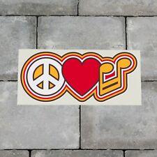 Colourful Peace Love Music Symbol CND Vinyl Sticker Decal Car Van Bike - SKU6578
