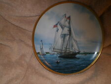 Gertrude Thiebaud Sailing/Racing Boat Plate #0400A, 1987 Hamilton Collection