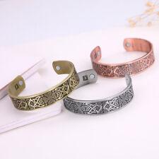 Viking Celtic Cross Trinity Knot Totem Magnetic Barcelet Cuff Bangle for Men