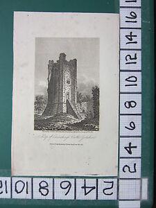 1807 Daté Antique Yorkshire Imprimé ~ Keep De Coninsburgh Château