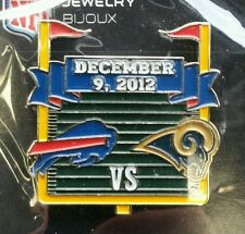 BUFFALO BILLS vs ST LOUIS RAMS GAMEDAY PIN 12/9/12 NFL GAME DAY LAPEL PIN
