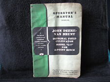 "Vintage Used John Deere Operators Manual - ""C7"" Field Cultivator  OM-M31-952"