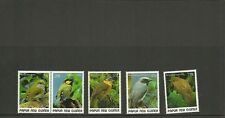 PAPUA  NEW GUINEA SG 597-601 SMALL BIRDS (2ND ISSUE) SET MNH
