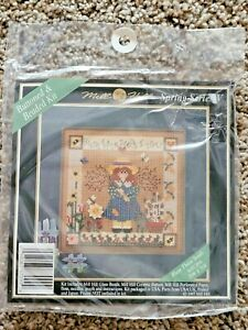 Mill Hill Buttoned & Beaded Kit BLESS THESE SEEDS SPRING SERIES V Cross Stitch