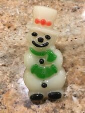 Vtg Xmas Light Outlet Snowman Japan Lucite Frosty