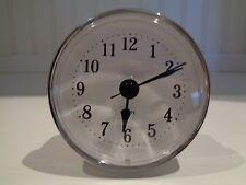 "Premium 2-1/2""(65mm)Youngtown Quartz Clock Insert, Arabic, Silver, Free Battery"