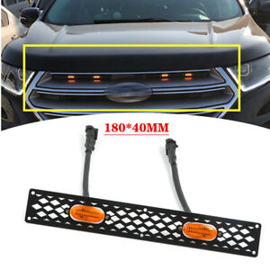 Universal Car Front Bumper Grille LED Small Yellow Light 12V External Light Kit