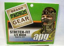 Primos APG HD Camo Stretch Fit Hunting Hood 3/4 Mask Balaclava Camouflage 6737