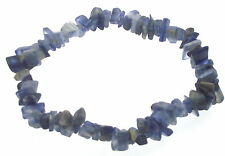 Electric Blue Kyanite Gemstone Crystal Chip Bracelet