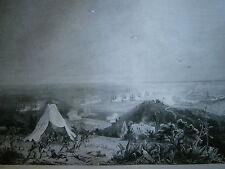 Gravure 19° guerre de louis Philippe débarquement de l'armée  à Sidi Ferruch