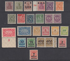 Germany MNH. 1921-1923 Inflation Issues, 24 different F-VF