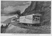 RAILROAD INSPECTION CAR, 1891 ANTIQUE PRINT HISTORY