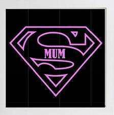 Super MUM box frame vinyl decal