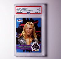 2001 Fleer WWF WCW CHRIS JERICHO Get Real With KB Toys #15 MINT PSA 9
