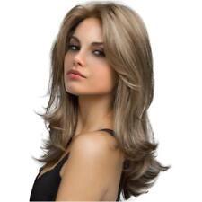 22'' Perruque Femmes Brésilienne Blonde Ondulée en Cheveux Synthétique
