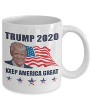 President Donald Trump 2020 Coffee Mug Cup Keep America Great Flag Trump Pence