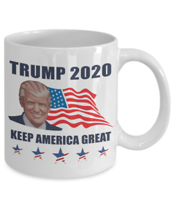 President Donald Trump 2020 Coffee Mug Cup Keep America Great Flag Pence t13